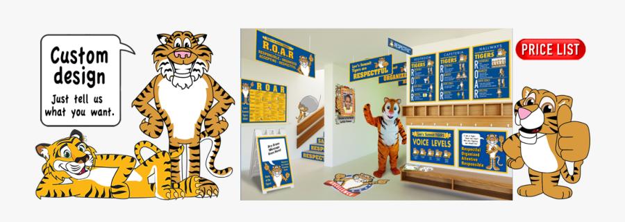 Cartoon Tiger, Transparent Clipart