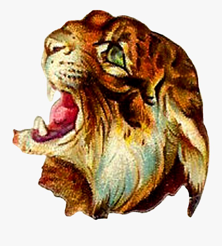 Tiger Image Illustration Vintage - Vintage Tiger Clipart Png, Transparent Clipart