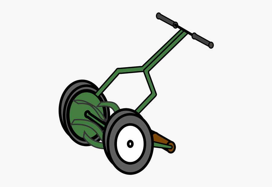 Cartoon Old Lawn Mower, Transparent Clipart