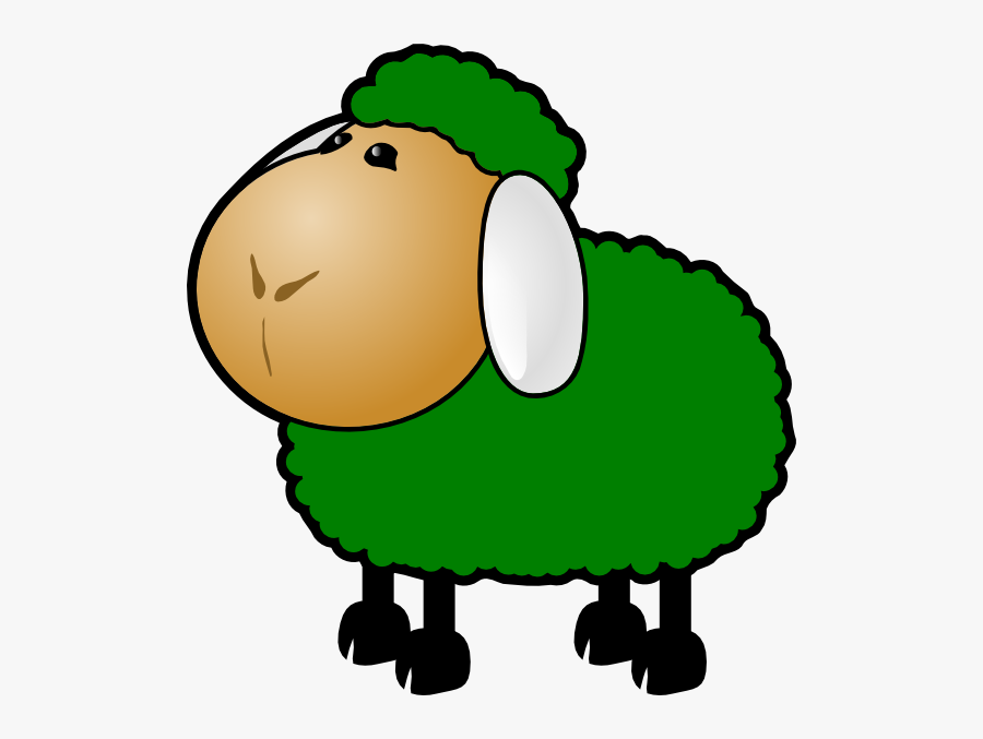 Sheep Lamb Clipart Black And White Free Images Image - Red Sheep Clip Art, Transparent Clipart