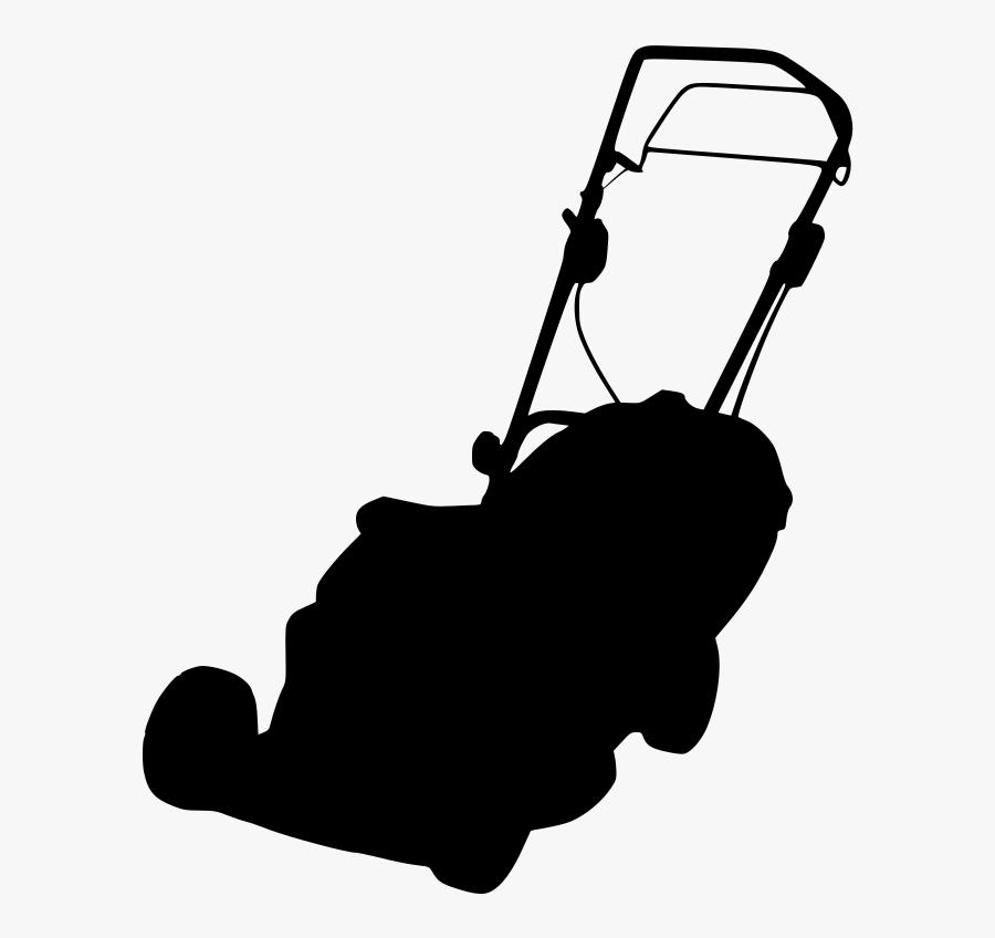 Lawn Mowers Silhouette Dalladora - Lawn Mower Silhouette, Transparent Clipart