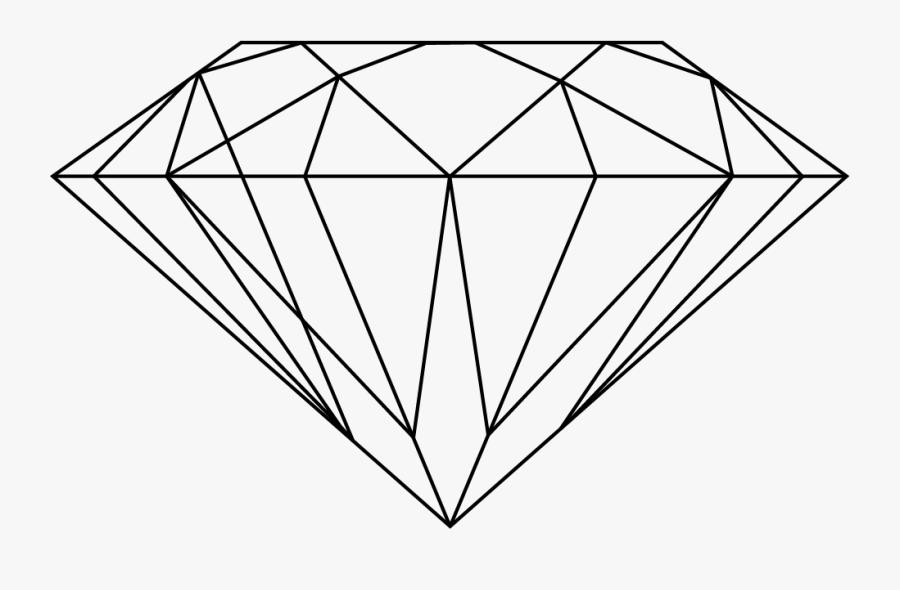 Transparent Diamond Clipart Black And White - Diamond Clipart Transparent Background, Transparent Clipart