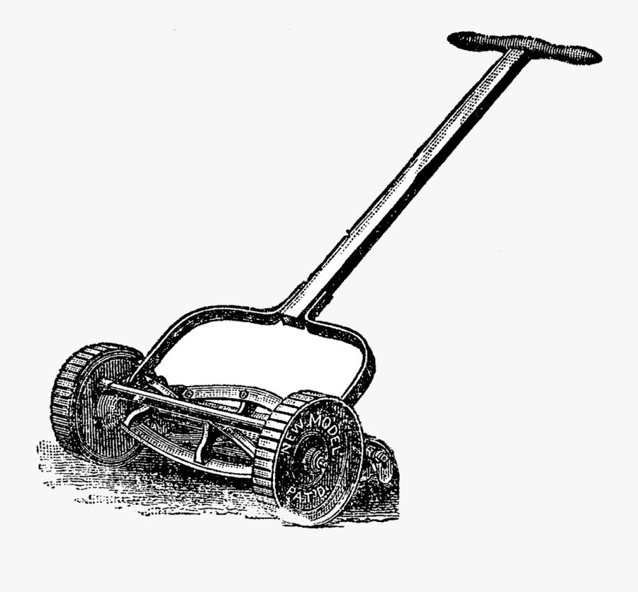 Transparent Lawn Mower Clip Art - First Lawn Mower, Transparent Clipart