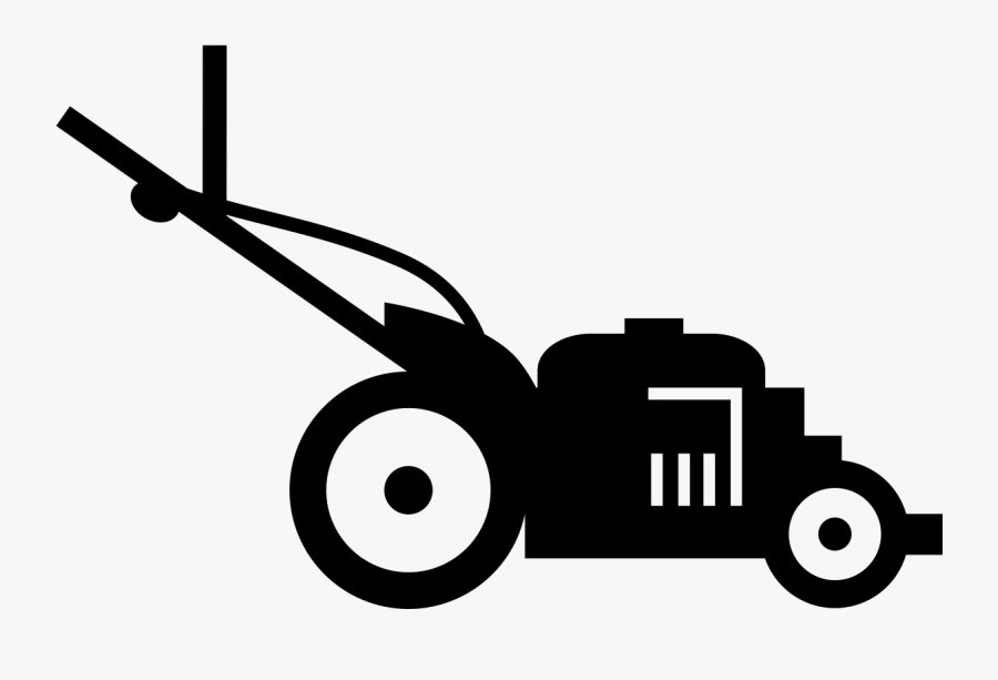 Landscape Clipart Lawn Care Service - Lawn Mower Black And White, Transparent Clipart