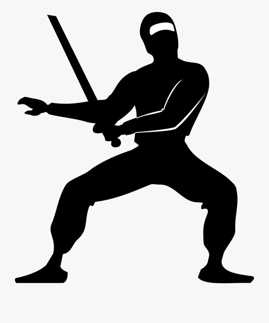 Pathetic Ninja - Clipart Black And White Ninja, Transparent Clipart