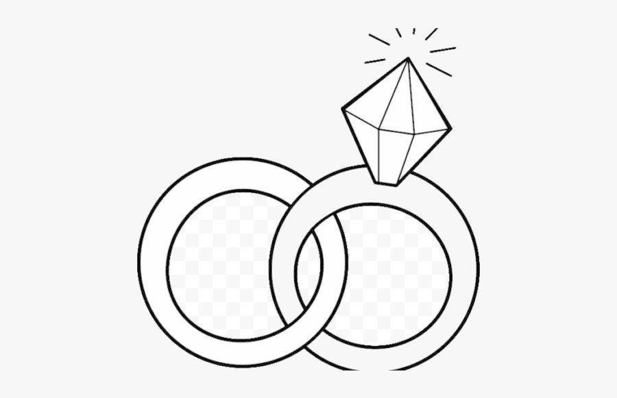 Diamond Ring Clip Art Beautiful Engagement Wedding - Wedding Ring Logo Transparent Background, Transparent Clipart