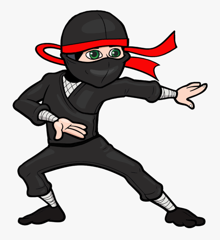Training Ninja Clip Art - Cartoon Ninja Transparent Background, Transparent Clipart