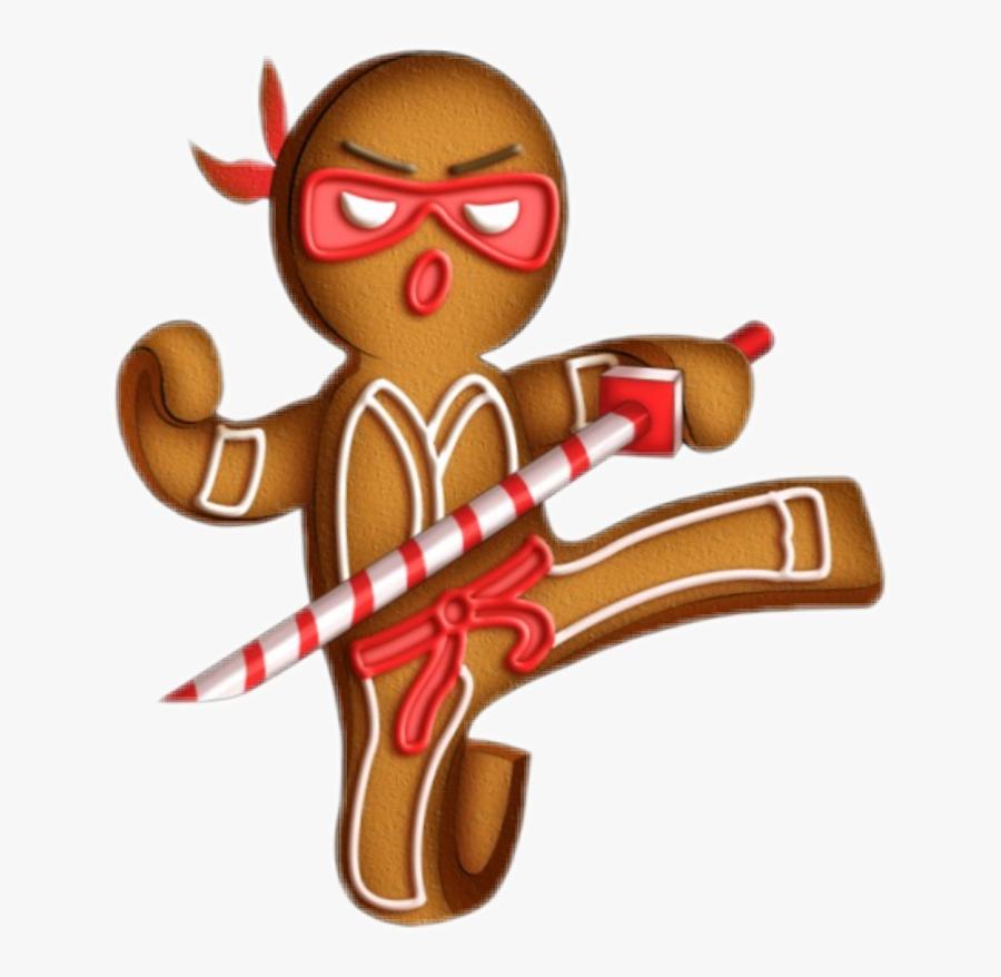 Ninja Clipart Gingerbread - Gingerbread Ninja Clipart, Transparent Clipart