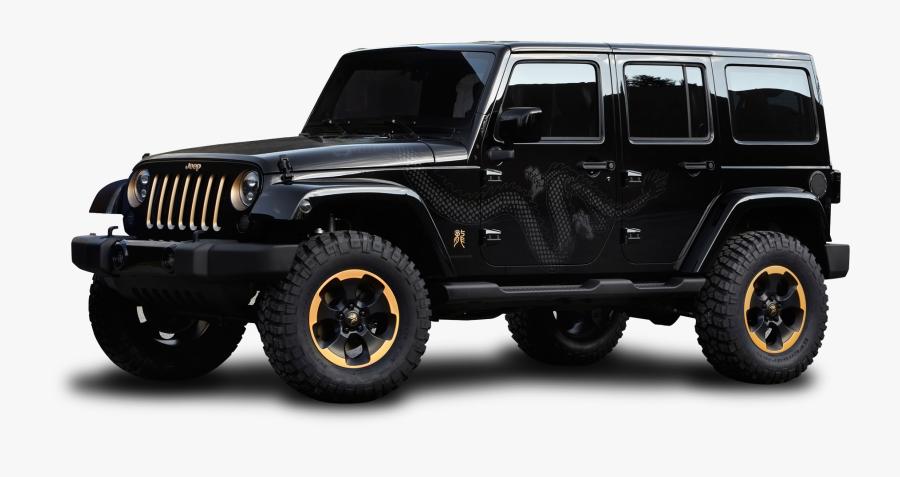 Jeep Png Images - Shiny Black Jeep Wrangler, Transparent Clipart