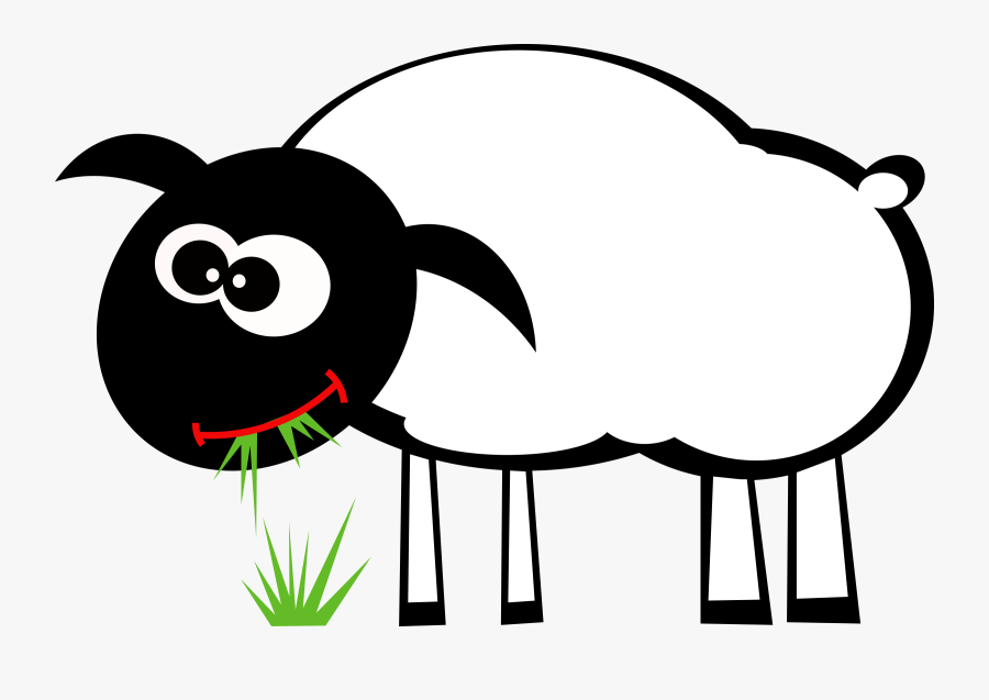 Art,monochrome Photography,artwork - Sheep Eating Grass Clipart, Transparent Clipart