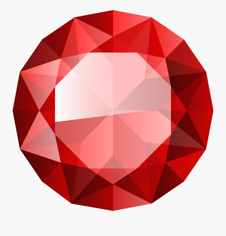 Transparent Diamond Clip Art - Red Diamond Transparent Background, Transparent Clipart