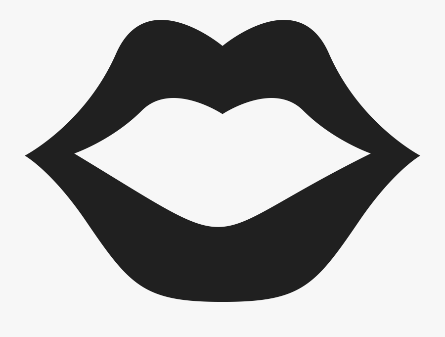 Vector Black And White Collection Of High Quality Free - Kiss Lips Clip Art Black And White, Transparent Clipart