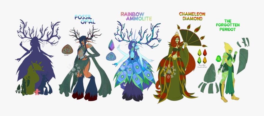 Ce Opal And Chameleon Diamond Fusion By Ⓒ - Diamond Fusion Steven Universe, Transparent Clipart