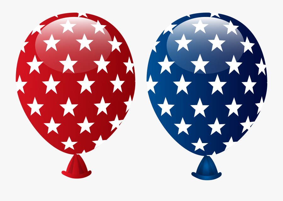 Usa Balloons Decoration Png Clipart Image - 4th Of July Balloons Clipart, Transparent Clipart