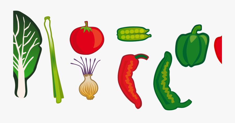 Garden Clip Art Cartoon - Vegetable Border Line Transparent, Transparent Clipart