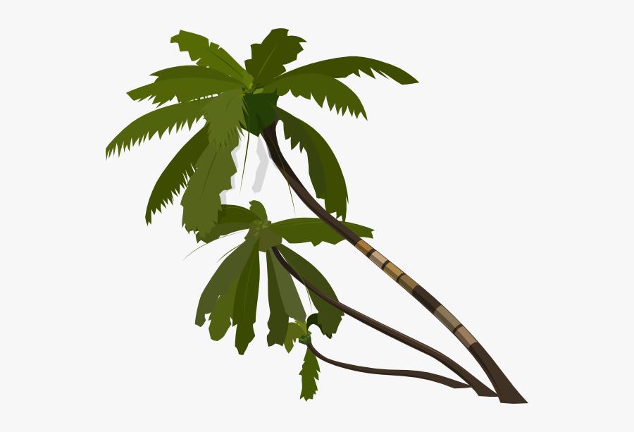 Vector Palm Trees Clip Art - Orange Palm Trees Clip Art, Transparent Clipart