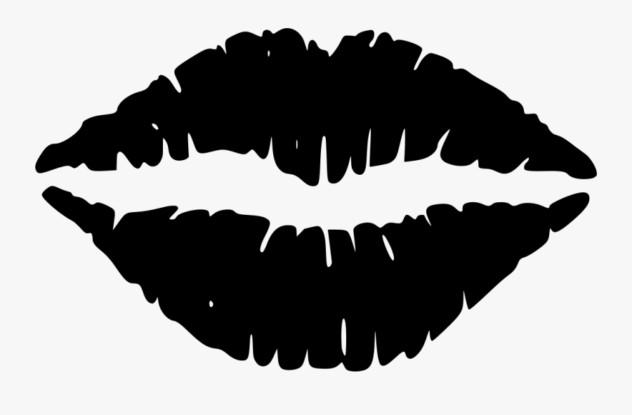 Kiss, Lips, Lipstick, Mouth, Love, Sensual, Sensuality - Lips Black And White Clipart, Transparent Clipart