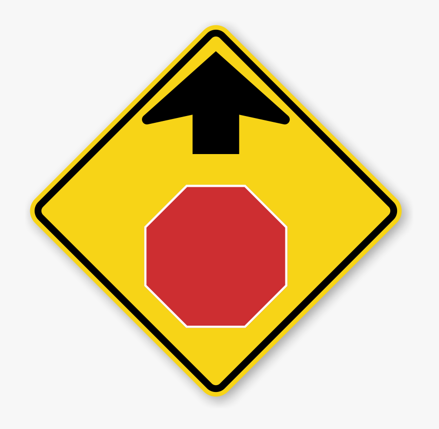 Clip Art Nc Drivers Signs And - Stop Sign Ahead Sign, Transparent Clipart