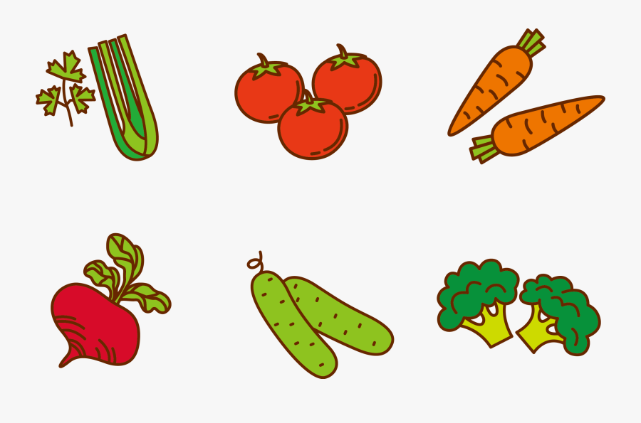 Transparent Vegetable Clipart - Cartoon Vegetables Transparent Background, Transparent Clipart