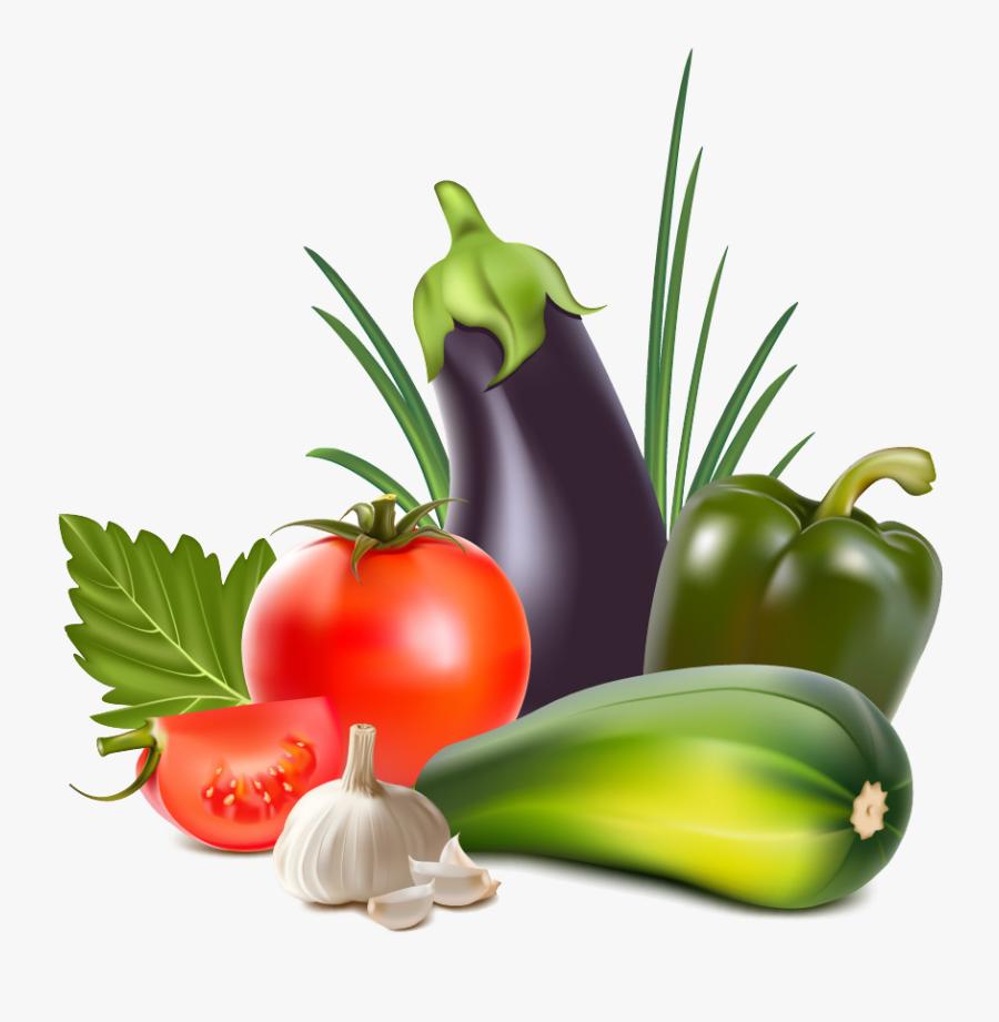 Organic Food Vegetable Fruit Clip Art - Fruits And Vegetables 3d, Transparent Clipart
