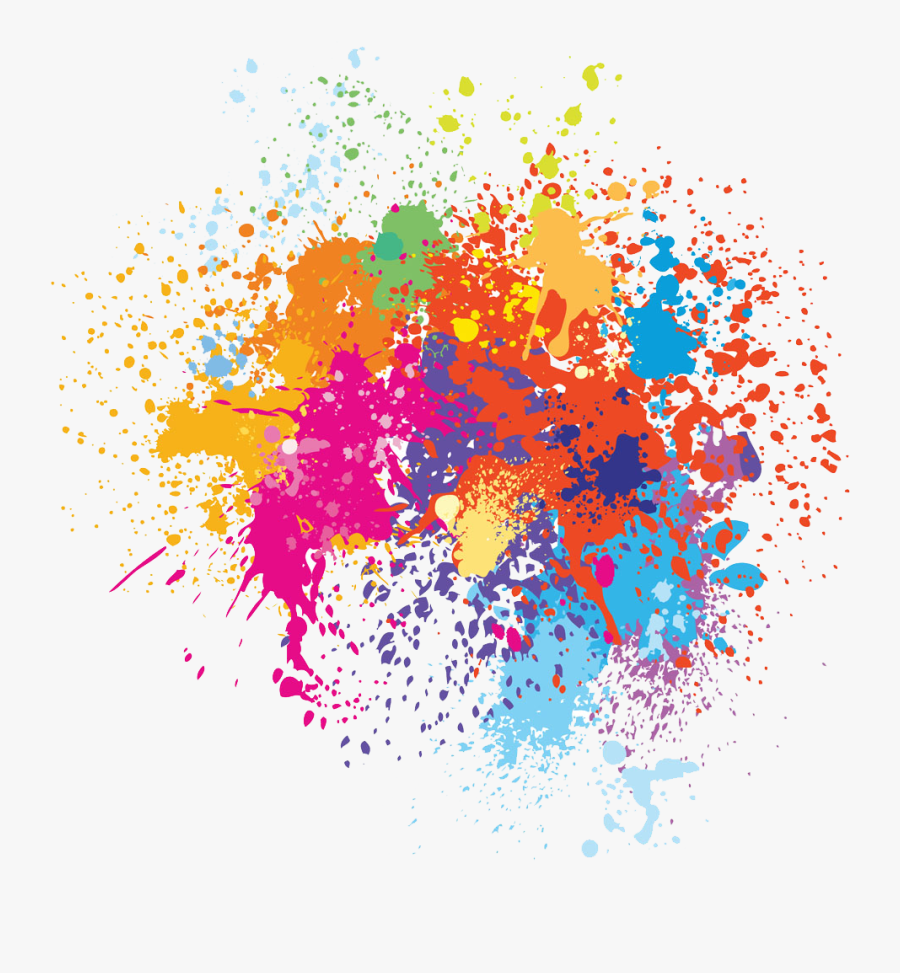 Color Illustration Watercolor Painted Spray Painting - Spray Paint Color Png, Transparent Clipart