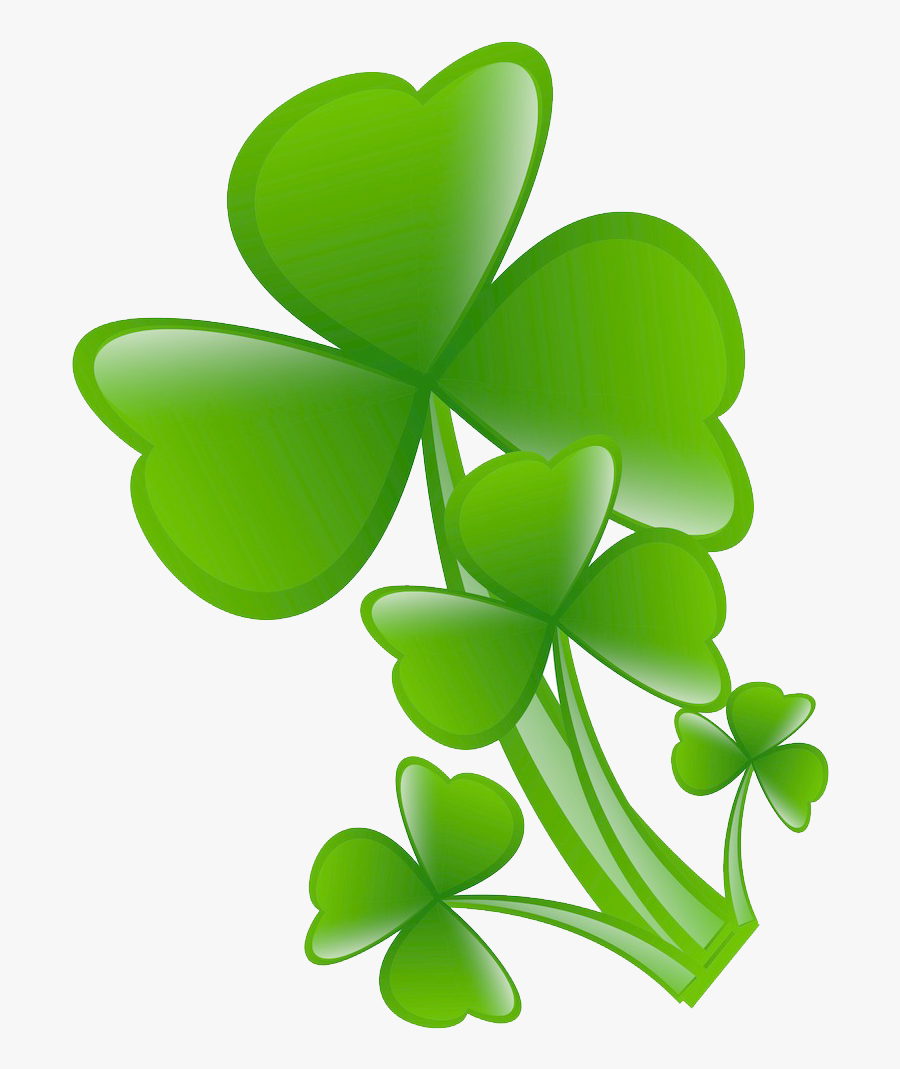 Transparent Four Leaf Clover Clipart - รูป ใบไม้ สี่ แฉก, Transparent Clipart