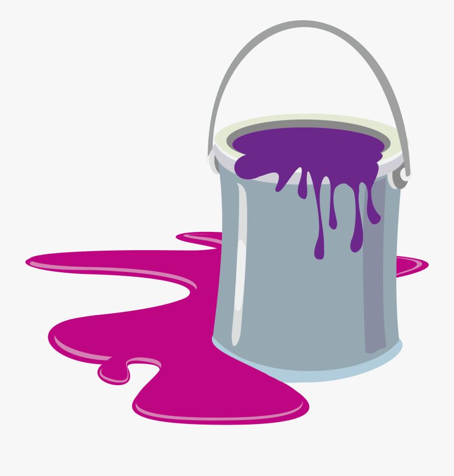 Clip Art Paint Bucket Clipart - Paint Can Clip Art, Transparent Clipart