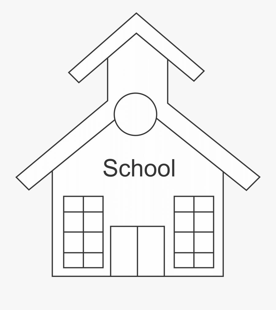 School Outline - School Building School Outline, Transparent Clipart