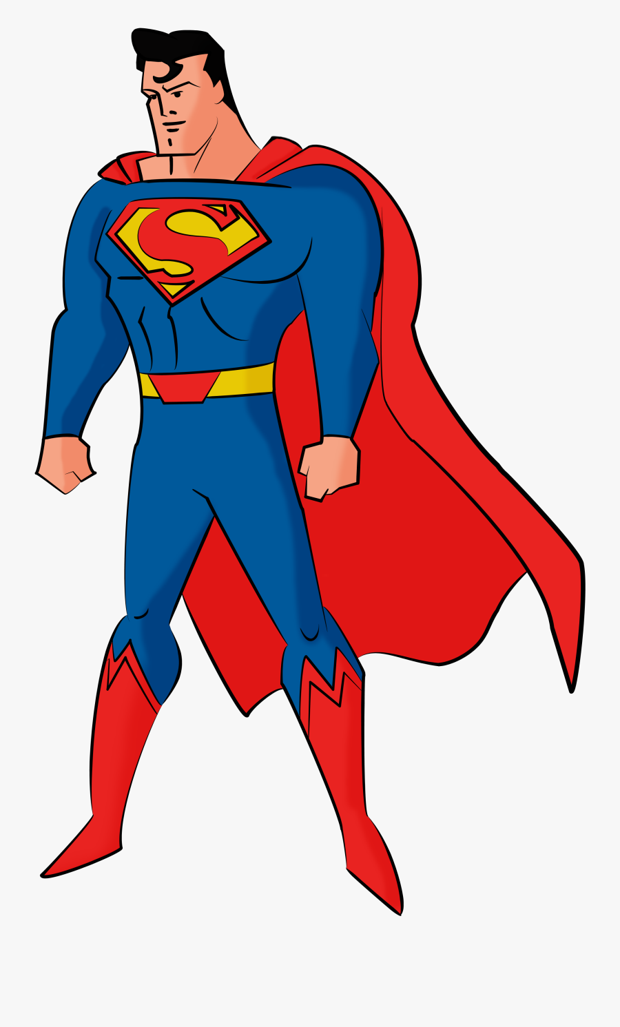 Collection Of Free Superman Drawing Person Download - Imagenes De Superman De Justice League Action, Transparent Clipart