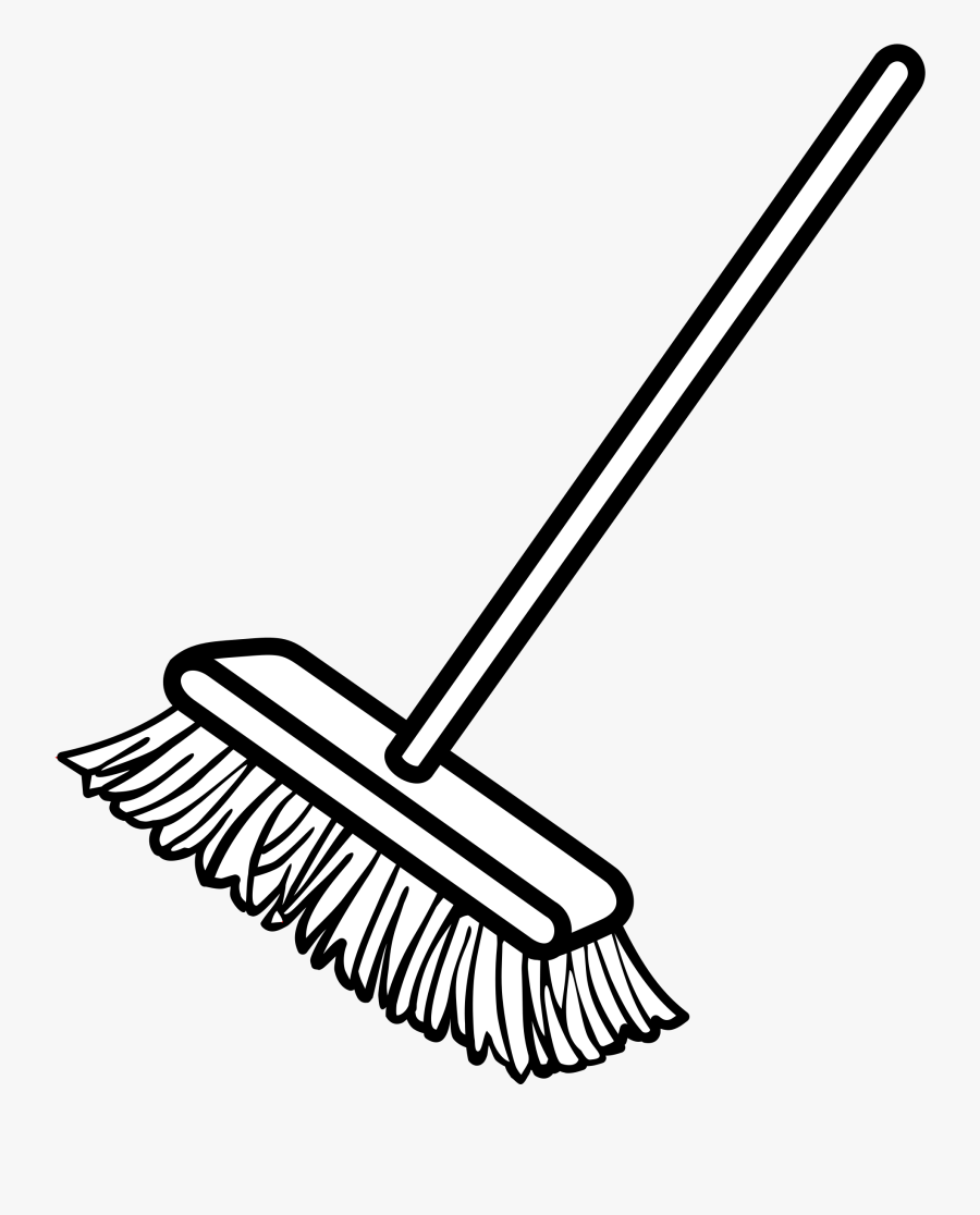 Broom Clipart The Cliparts - Broom Clipart Black And White, Transparent Clipart