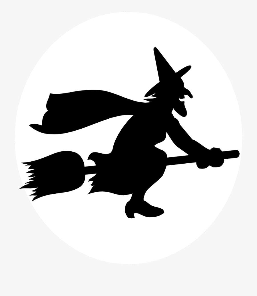 Thumb Image - Witch Flying On A Broomstick, Transparent Clipart