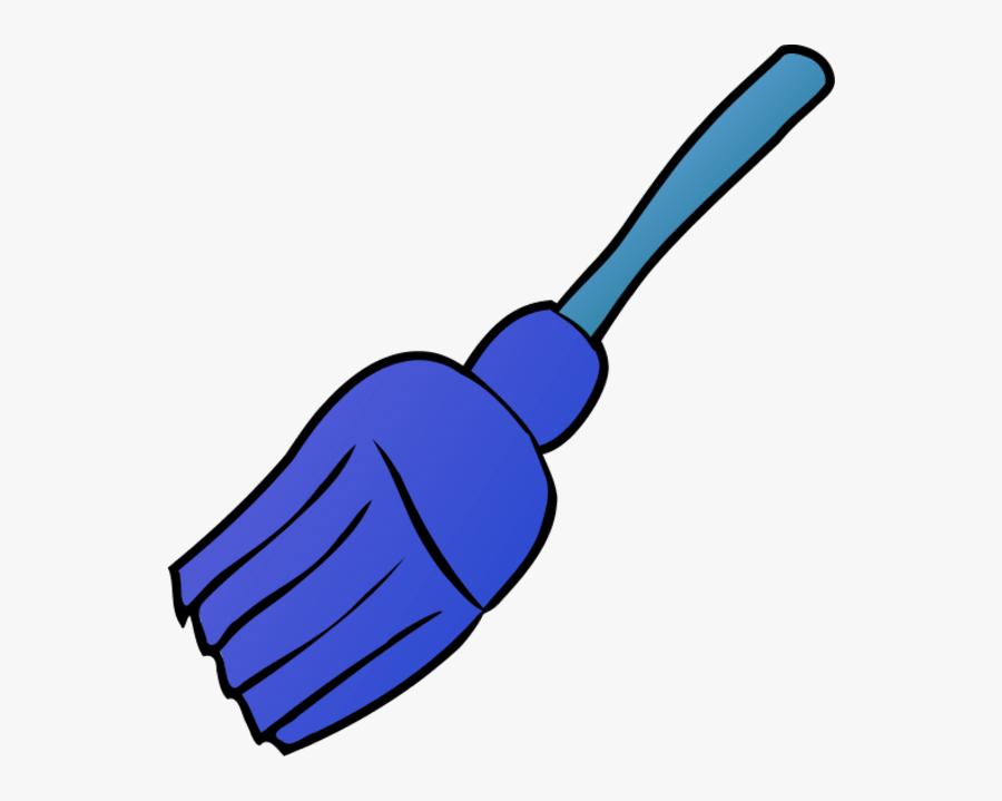 Blue Broom Clipart, Transparent Clipart
