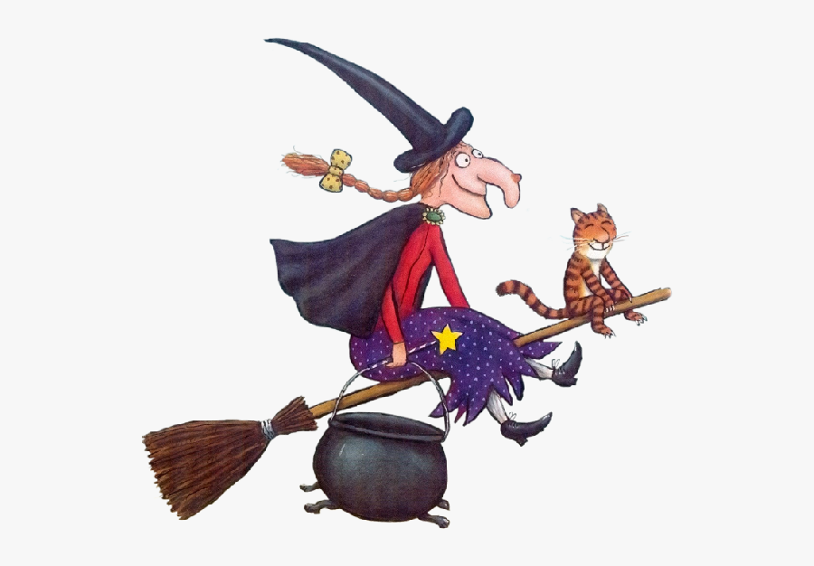 Witch With Cat - Witch From Room On The Broom, Transparent Clipart