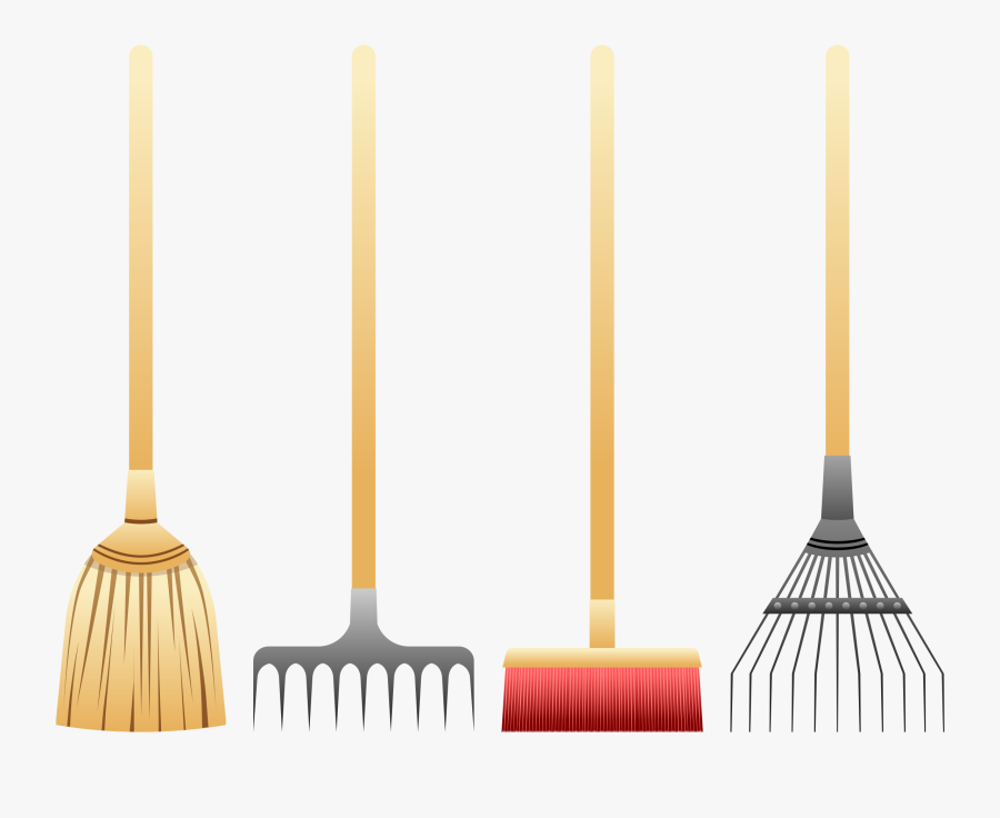 Cleaning Clipart Broom - Clipart Rake Broom, Transparent Clipart