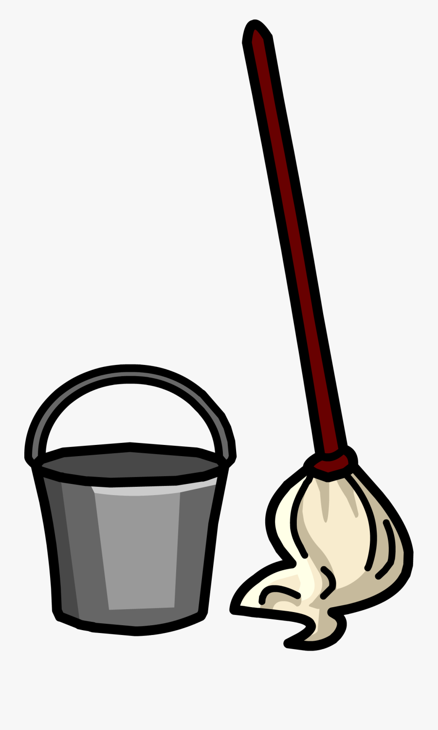 Mop And Broom Clipart - Bucket And Mop Clipart, Transparent Clipart