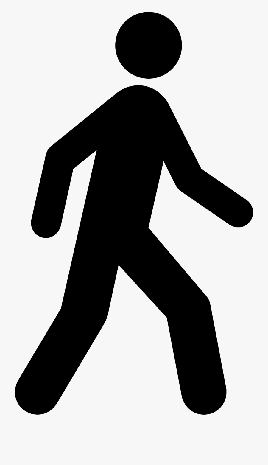Clip Library Download Hiking Drawing Man - Walking Stick Figure Png, Transparent Clipart