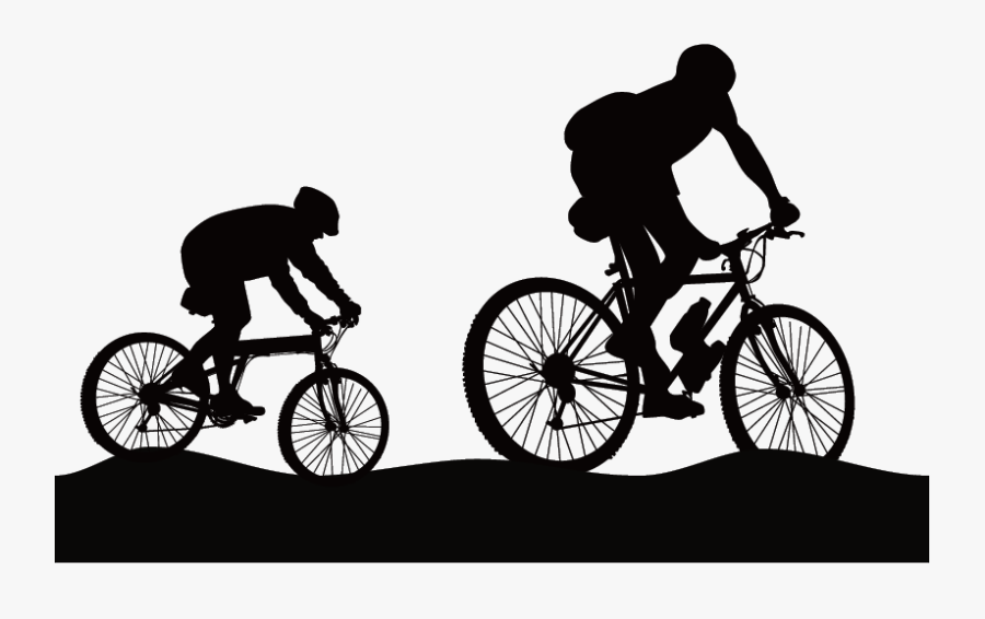 Mountain Recreation Outdoor Bicycle Hiking Cycling - Mountain Bike Silhouette Png, Transparent Clipart