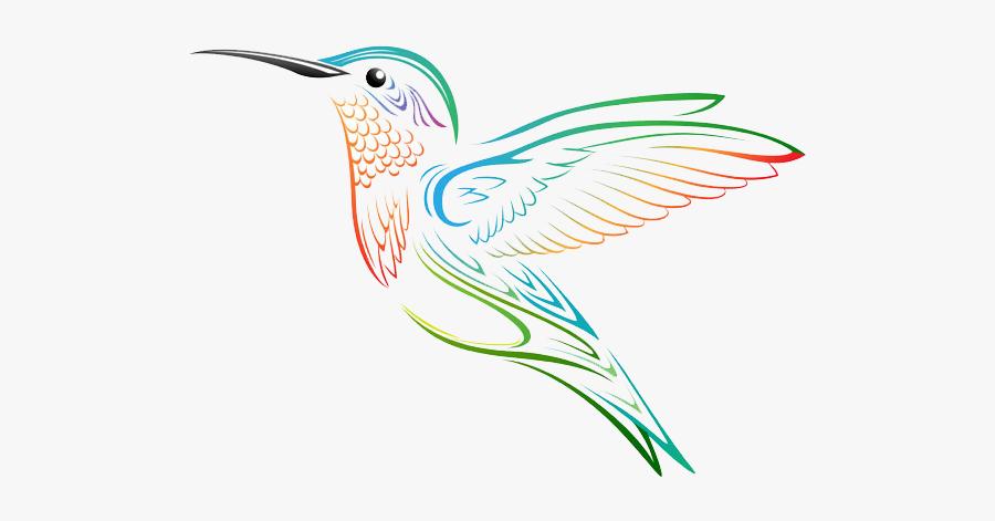 Clip Art Hummingbird Graphic - Hummingbird Tattoo Drawing, Transparent Clipart