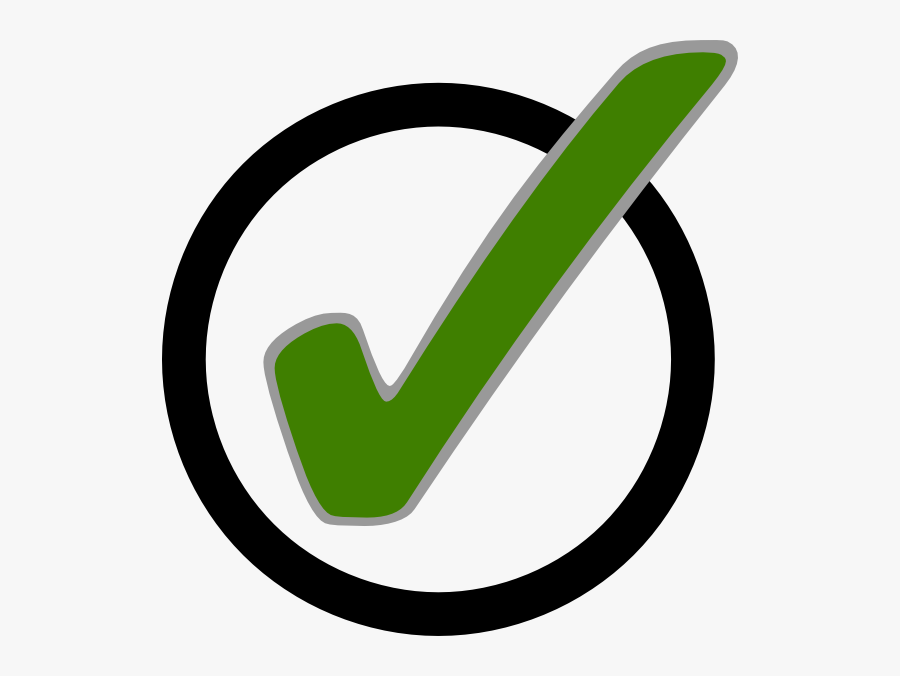 Green Checkmark - Clipart Library - Tick In Circle Symbol, Transparent Clipart