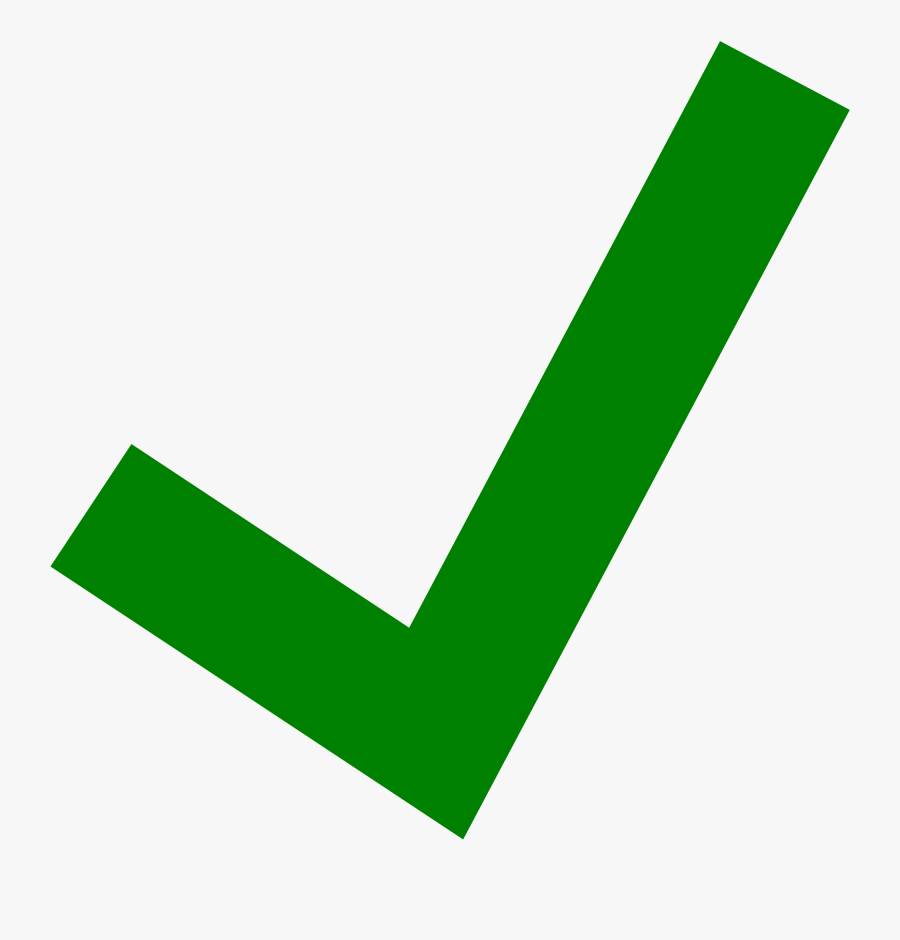 Green Check Clipart Transparent - Transparent Background Green Tick Png, Transparent Clipart