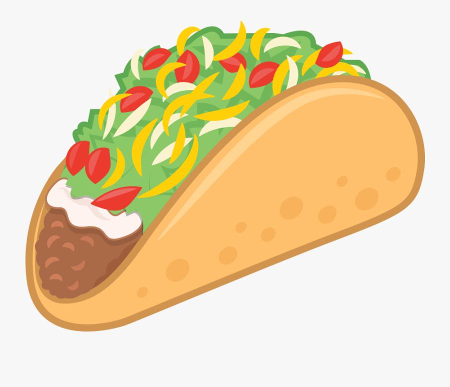 Taco Mexican Food Taco Emoji Vector Illustration - Transparent Mexican Food Clipart, Transparent Clipart