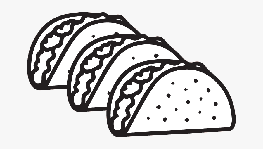 Transparent Egg Clipart Black And White - Taco Clip Art Black And White, Transparent Clipart
