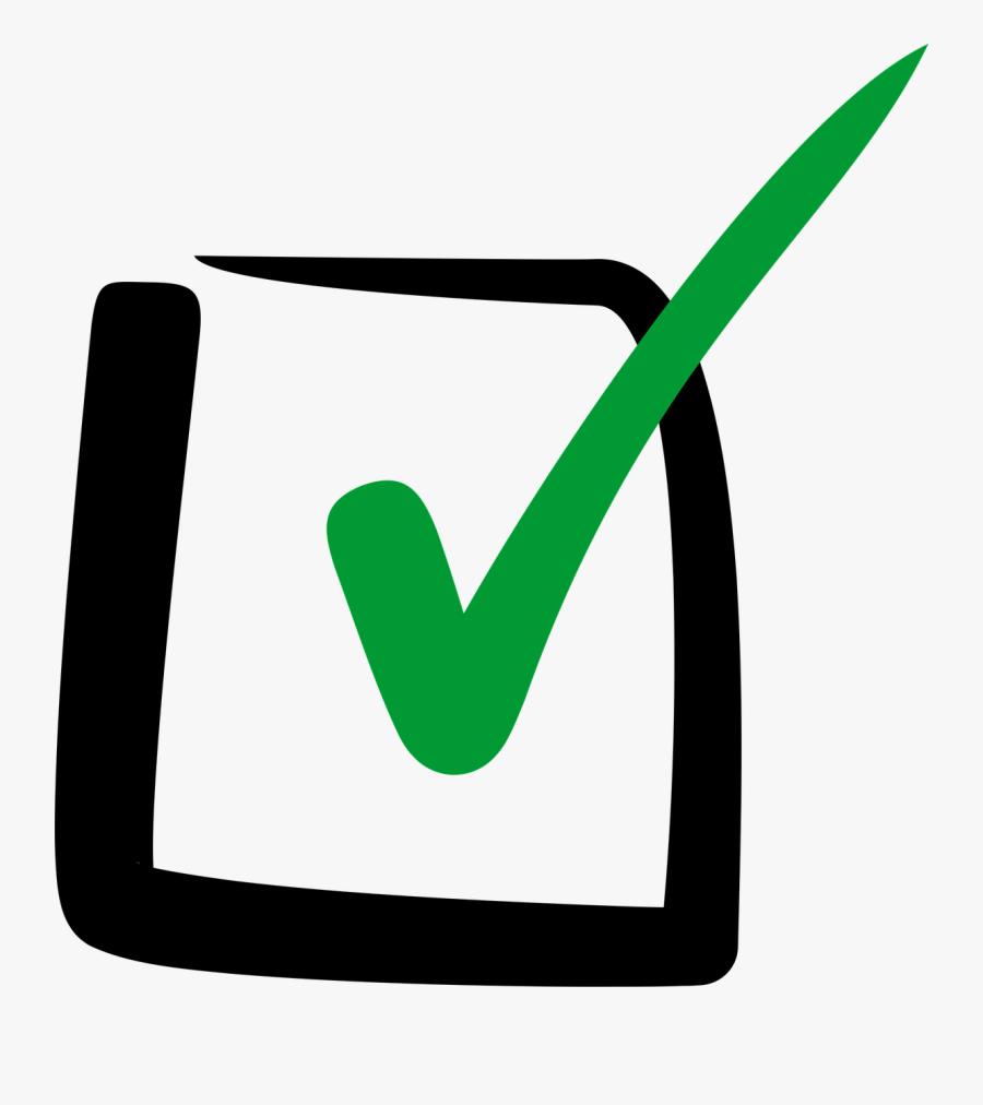 Check Box Clipart Checkbox Check Mark Clip Art - Green Check Mark Box, Transparent Clipart