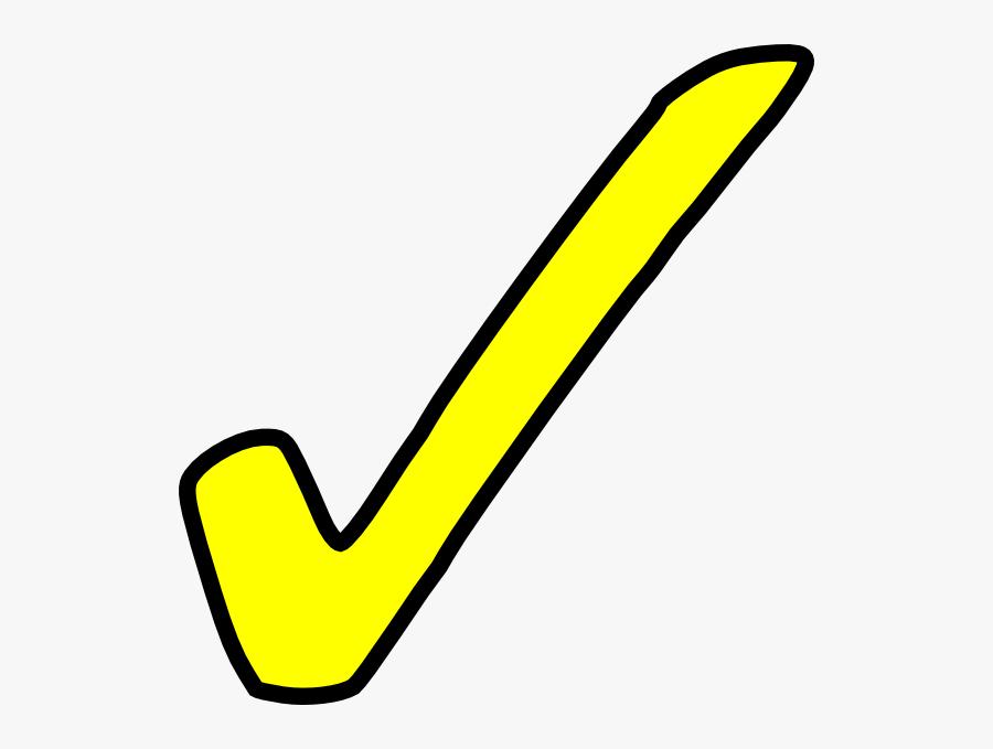 Clip Art Free Tick Symbol Download - Yellow Check Mark Clip Art, Transparent Clipart