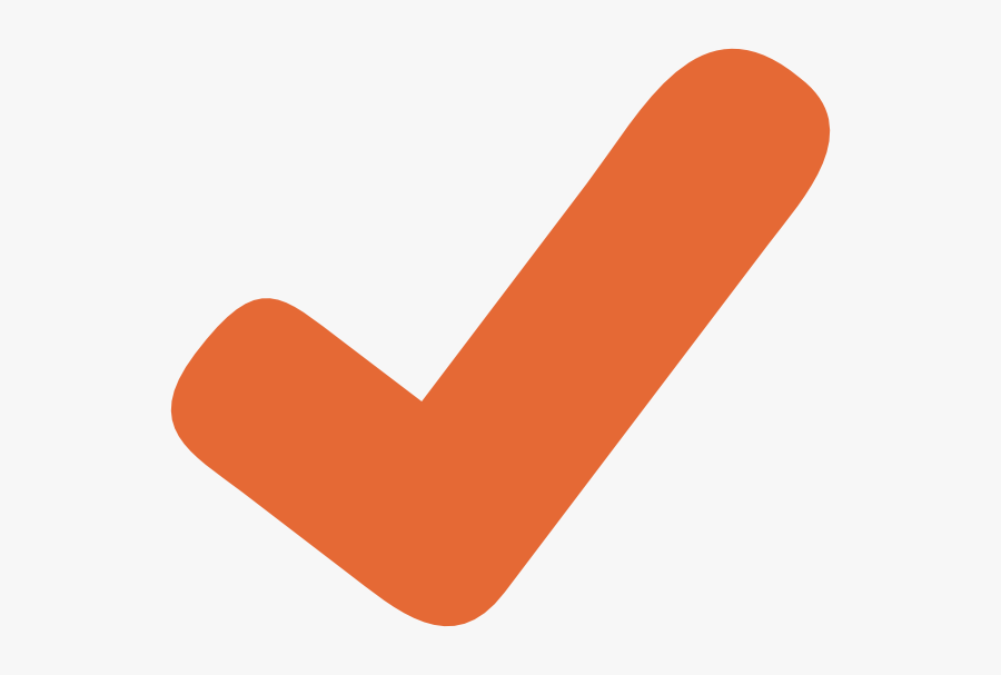 Orange Check Mark Clipart, Transparent Clipart