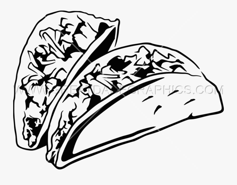 Transparent Taco Clipart Png - Tacos Black And White, Transparent Clipart