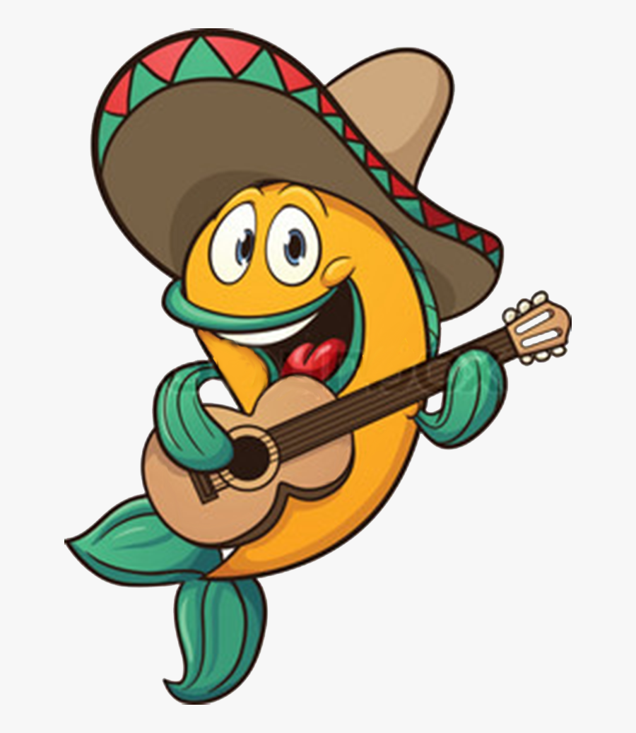 Tacos Clipart Comic - Fish Playing Guitar, Transparent Clipart