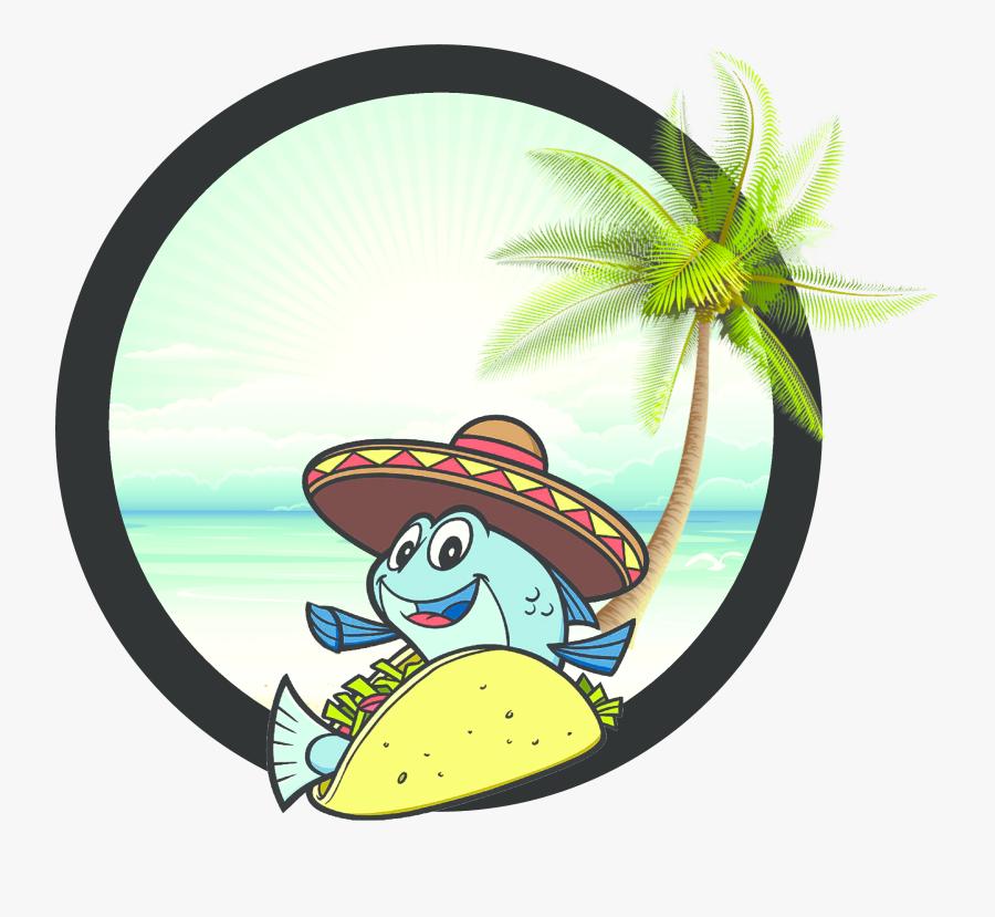 Transparent Taco Clip Art - Cartoon Fish Taco, Transparent Clipart