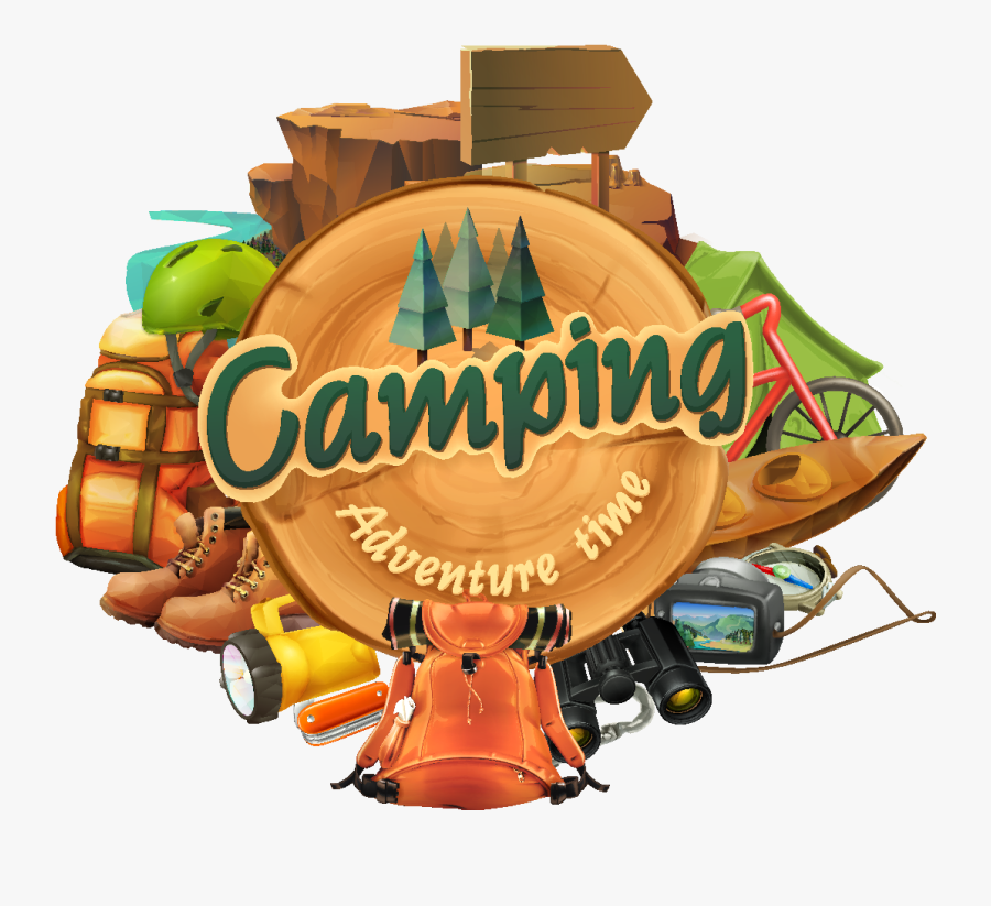 Clip Art Images Of Camping - Camping Cabin Clipart, Transparent Clipart