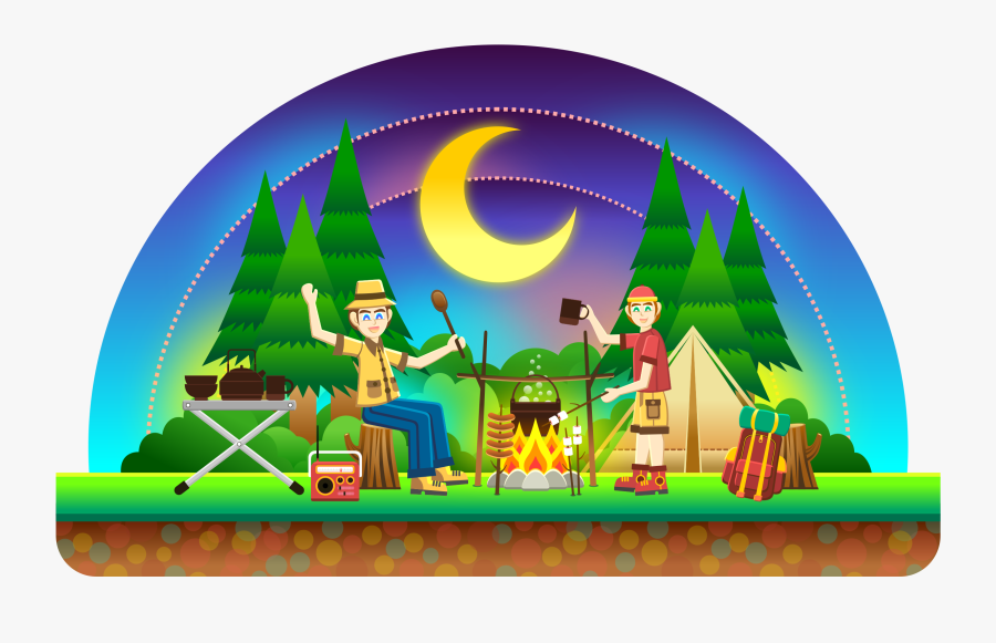 Recreation,art,outdoor Play Equipment - Family Camping Clip Art, Transparent Clipart